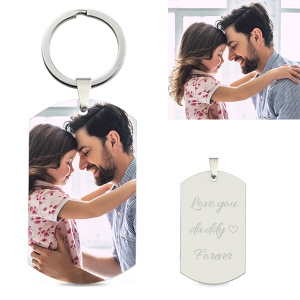 Custom  Photo Keychain Stainless Steel for Father